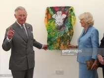 The Prince of Wales silk veil for the commemorative plaque