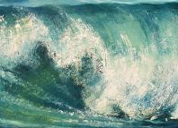 Crashing waves in Oil