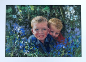Noah and Gabriel in the Bluebell wood